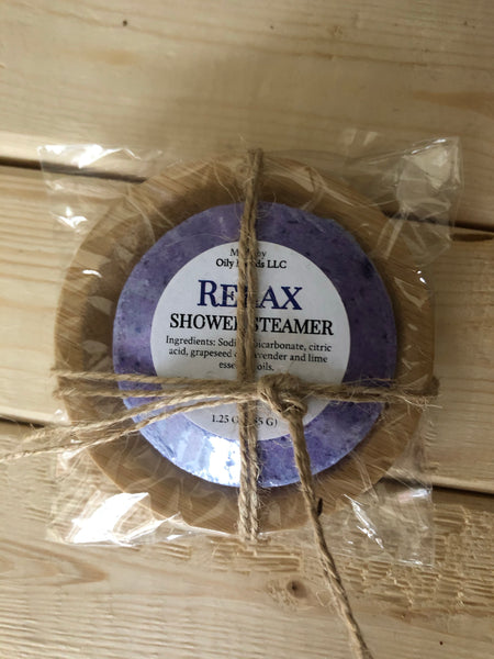 Relax Shower Steamer With Wooden Tray
