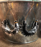 Fringe Tassel Teardrop Earrings