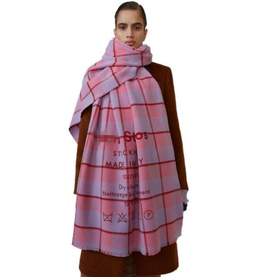 Colored Chequered Scarf Warms