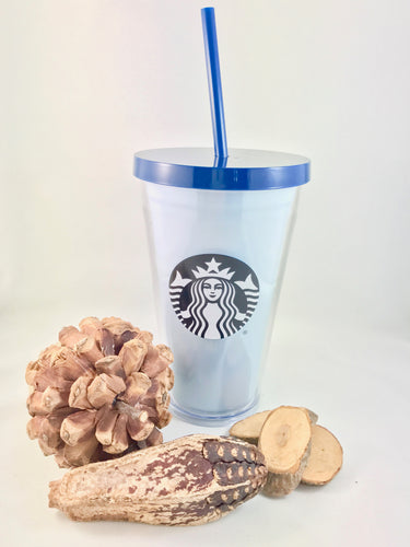Fall Acrylic Cold Cup Blue 16oz
