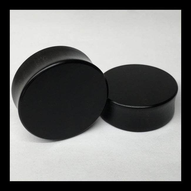 Ebony Solid Round Plugs