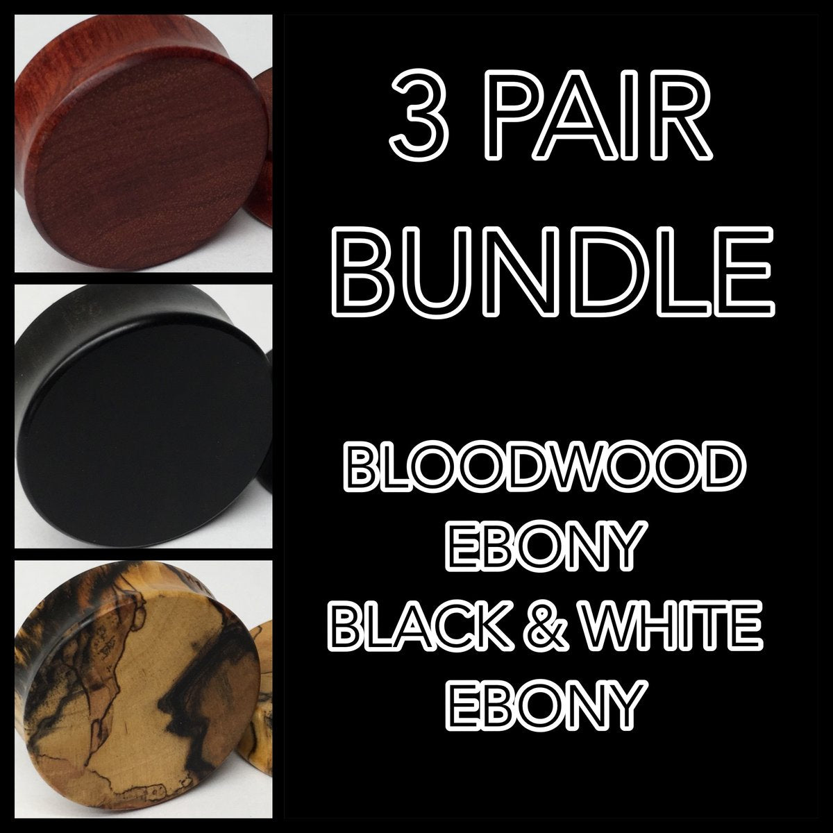 Ebony, Black & White Ebony, Bloodwood Bundle