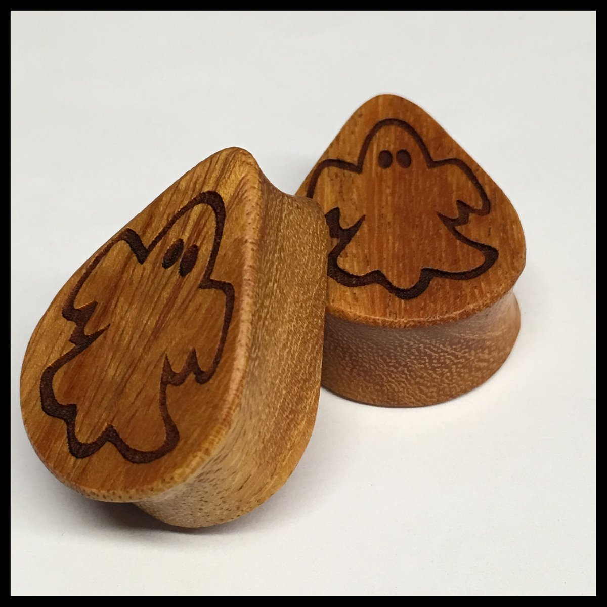 Osage Orange Ghost Solid Teardrop Plug
