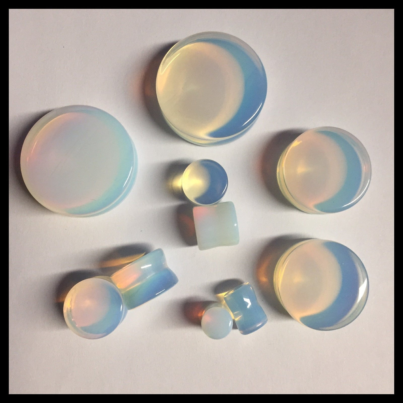 Opalite Solid Round Plugs