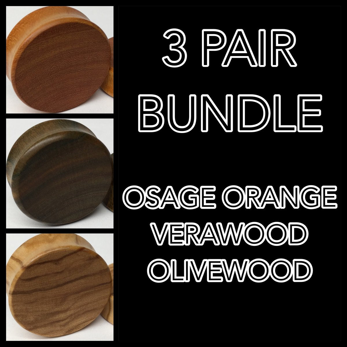 Osage Orange, Verawood, Olivewood Bundle