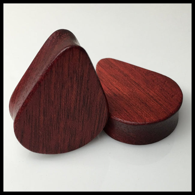 Bloodwood Solid Teardrop Plugs