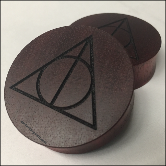 Bloodwood Deathly Hallows Solid Round Plug