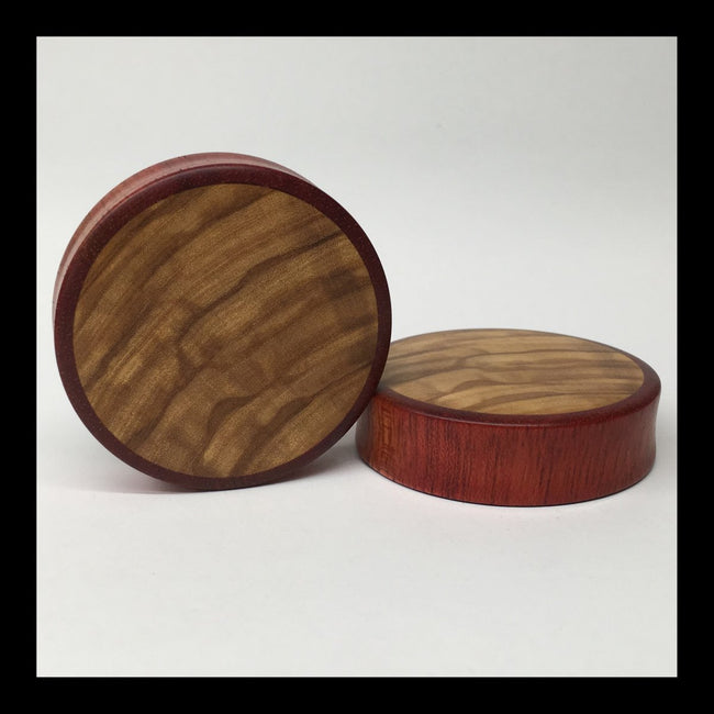 Bloodwood Olivewood Solid Round Plugs