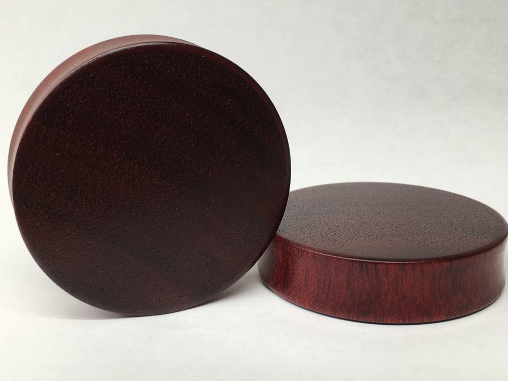 Bloodwood Solid Round Plugs