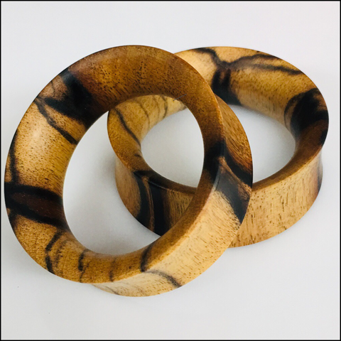 Marblewood Thin Tunnels Round Plugs