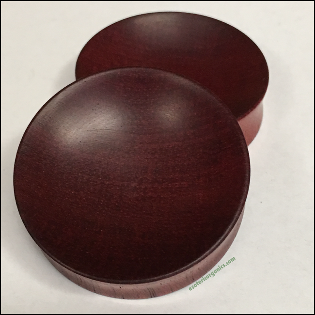 Bloodwood Concave Round Plugs