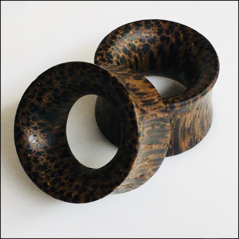 Zebrawood Thin Tunnels Round Plugs