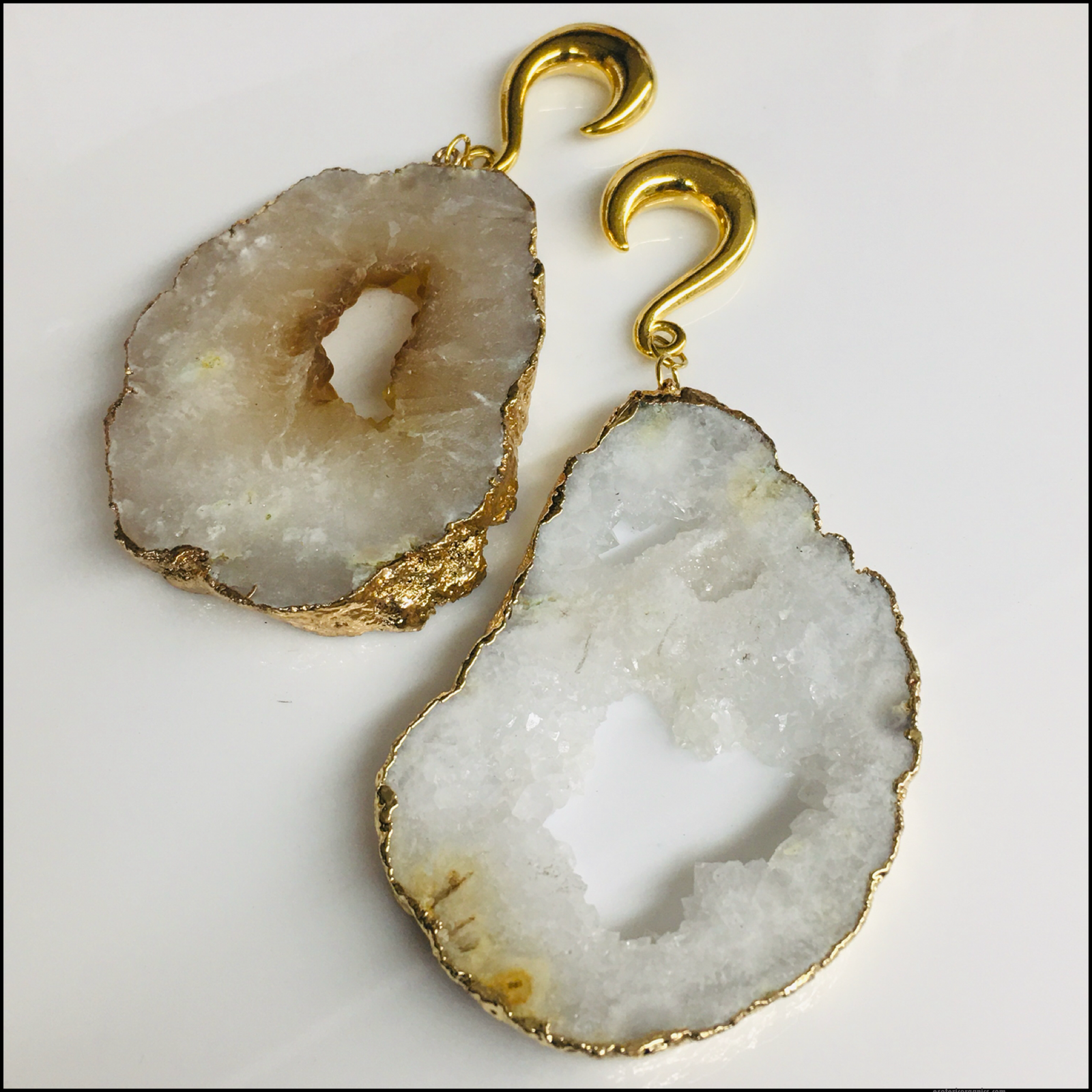 White Agate Druzy Weights