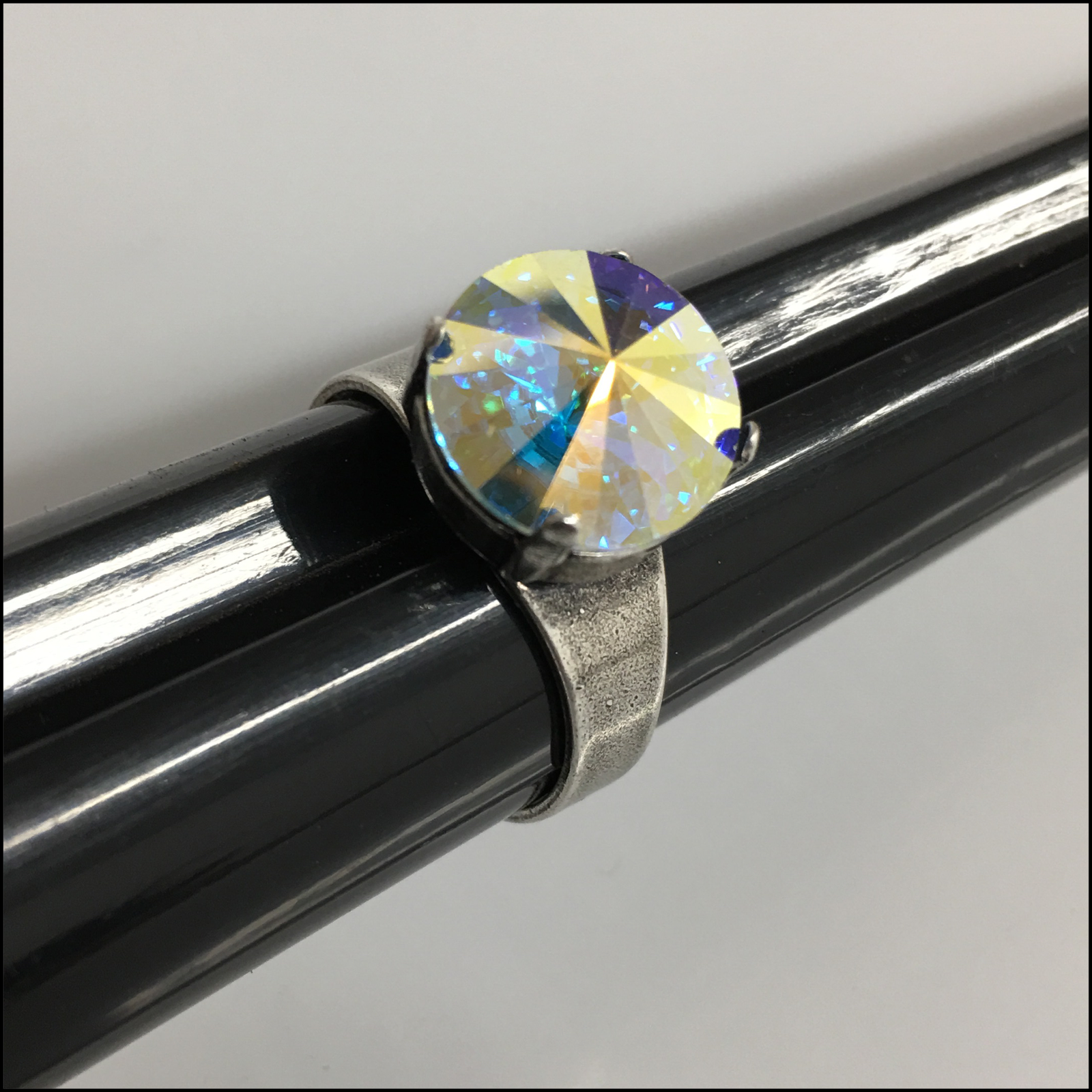 Swarovski Antique Silver Rivoli Ring
