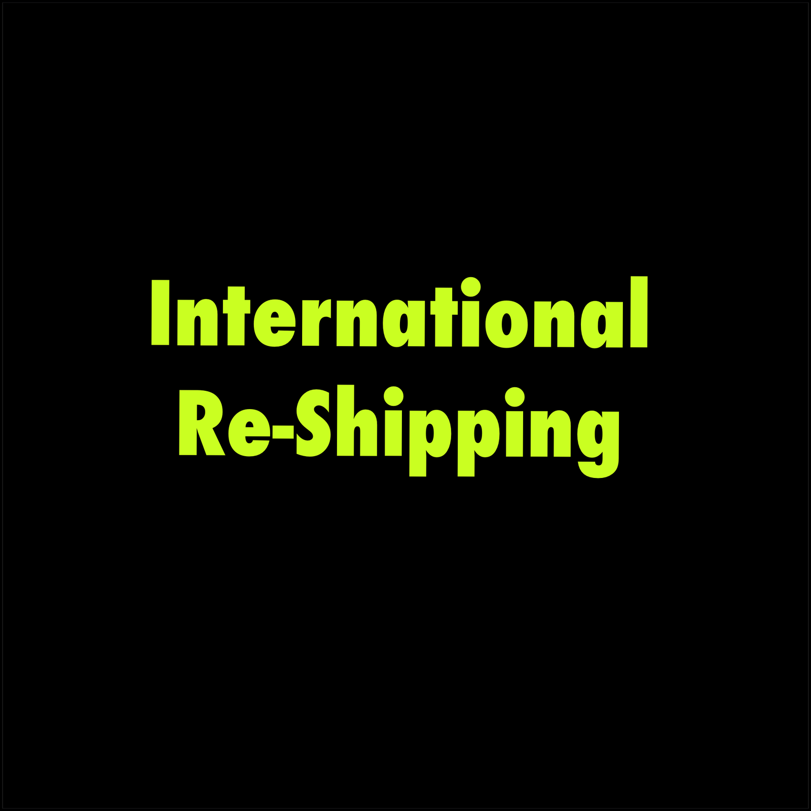International Re-Shipping