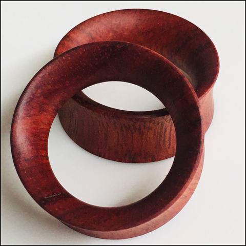Bocote Thin Tunnels Round Plugs