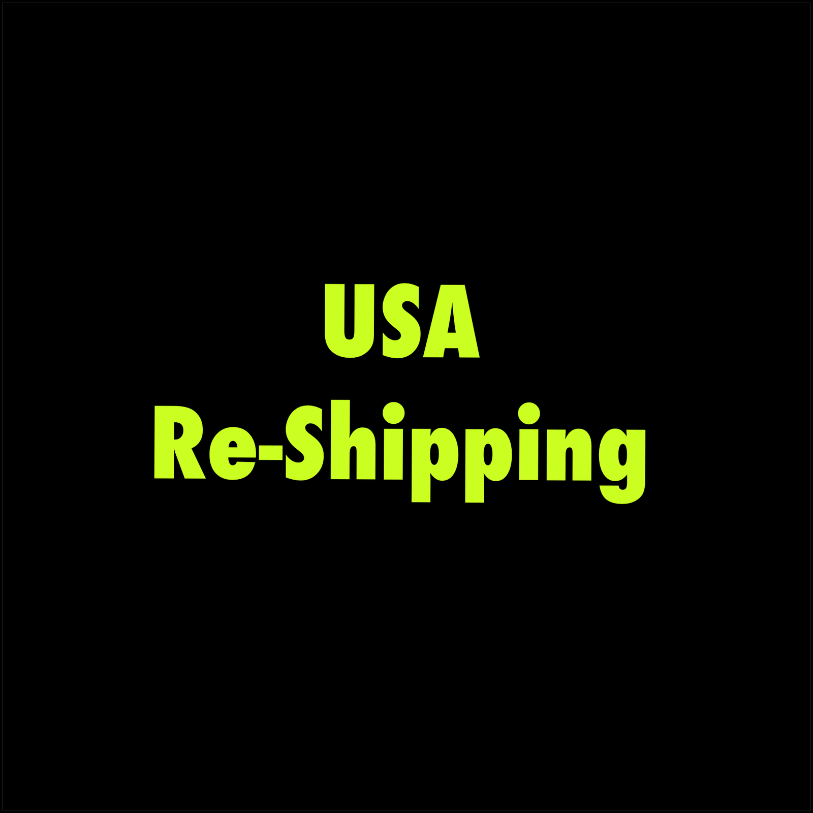 USA Re-Shipping