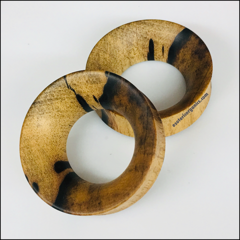Walnut Thick Tunnels Round Plugs