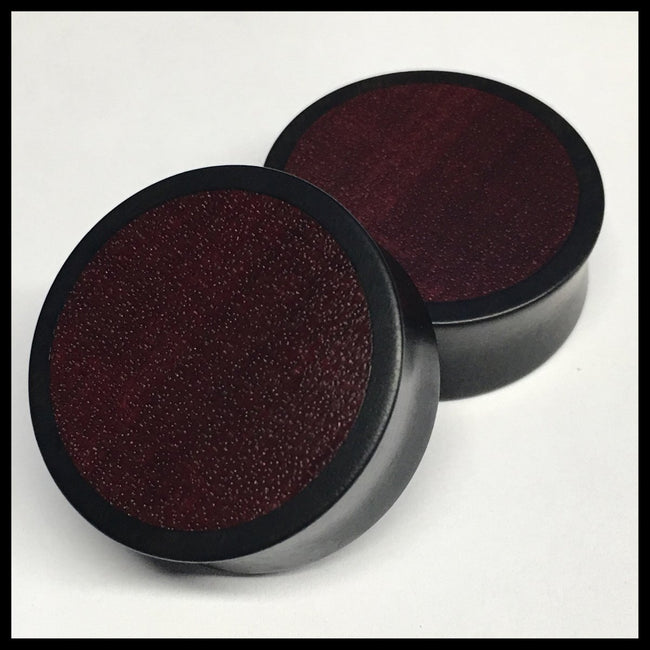 Ebony Purpleheart Solid Round Plugs