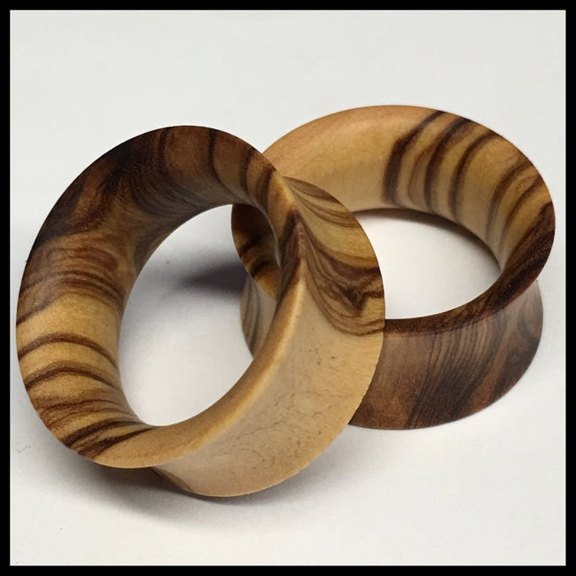 Olivewood Thin Tunnels Round Plugs