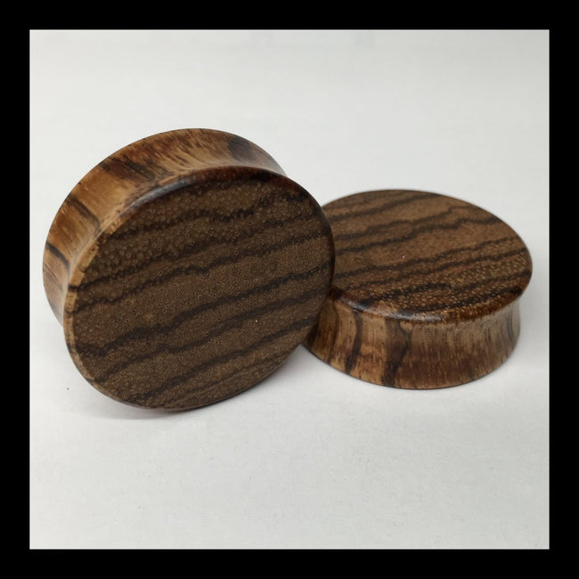 Zebrawood Solid Round Plugs