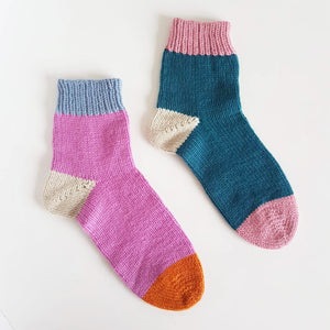 Toe-Up Socks - October