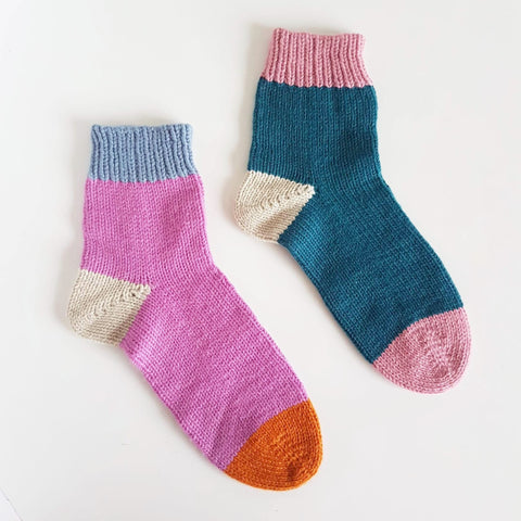 Toe-Up Socks - March