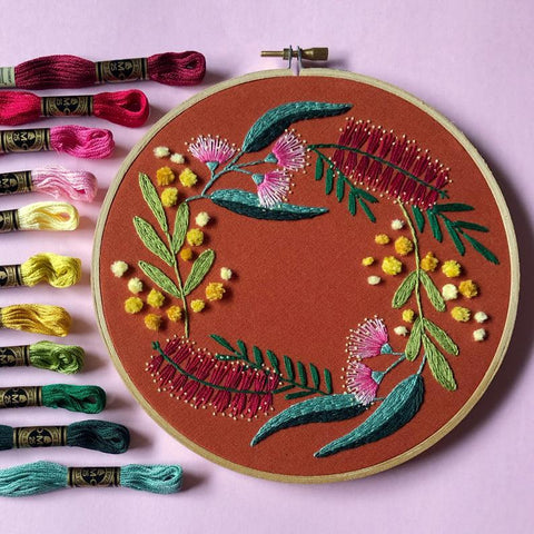 Embroidery Kit - Fuzzy Wattle