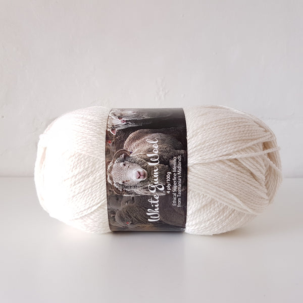 White Gum Wool 4ply