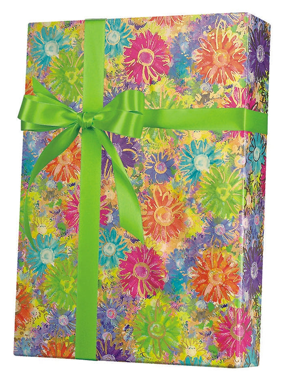 Gilded Daisies Gift Wrap