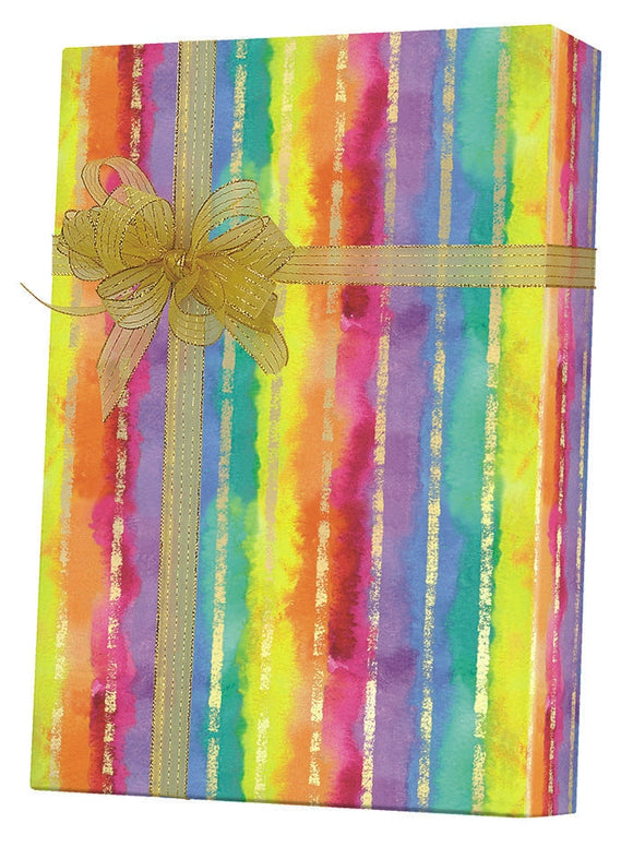 Rainbow Stripes Gift Wrap