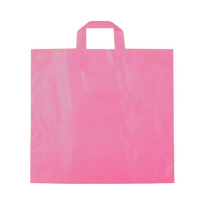 "Ameritote Plastic Shopping Bags - Hot Pink - 16"" x 15"" x 6"""