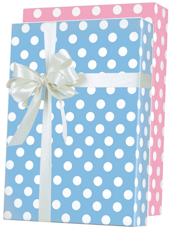 Baby Dots Reversible Gift Wrap