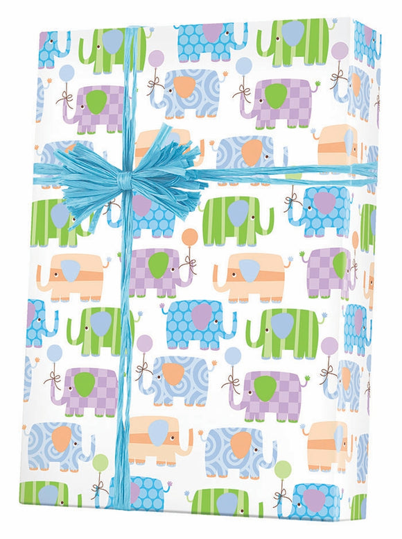 Baby Elephants Gift Wrap