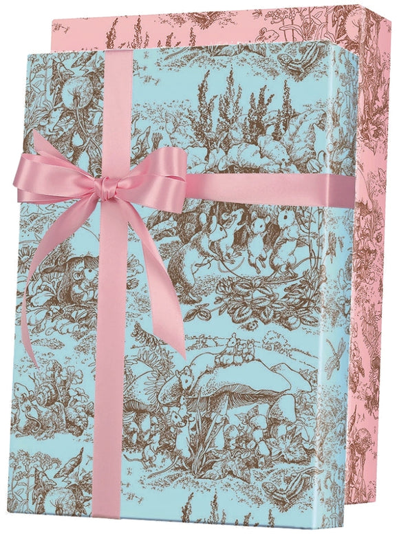Baby Toile Reversible Gift Wrap