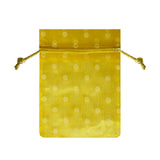 Yellow Polka Dot Organza Bags