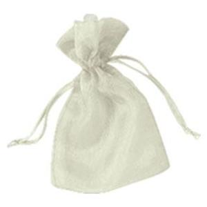"Organza Bags - 5"" x 6-1/2"" - Ivory"