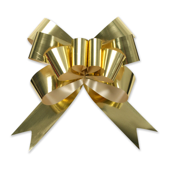 Glitter Pull Bow - Butterfly - Gold - 3 Sizes