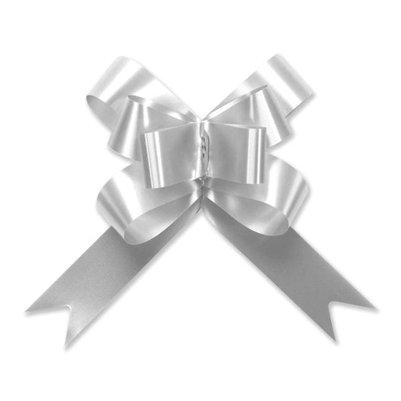 Splendorette Pull Bow - Butterfly - Silver - 2 Sizes
