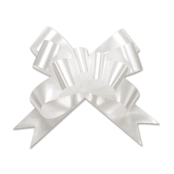 Splendorette Pull Bow - Butterfly - White - 3 Sizes