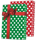 Christmas Polka Dot Reversible Gift Wrap