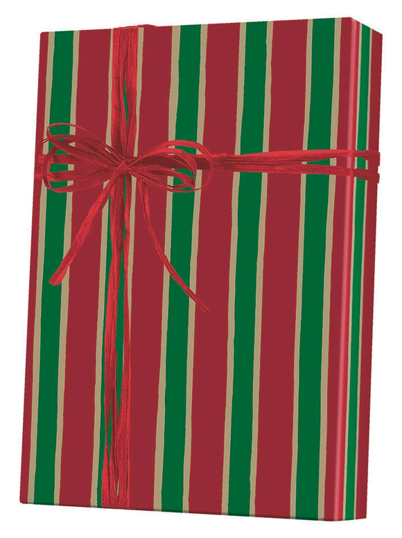 Christmas Stripe Gift Wrap