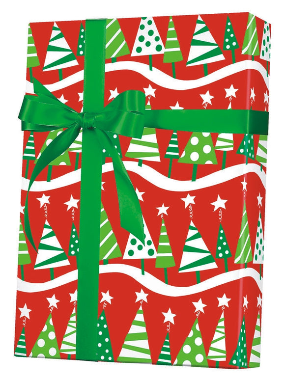 Christmas Tree Rock Gift Wrap