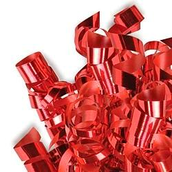 Glitter Curling Ribbon - Red - Uncrimped