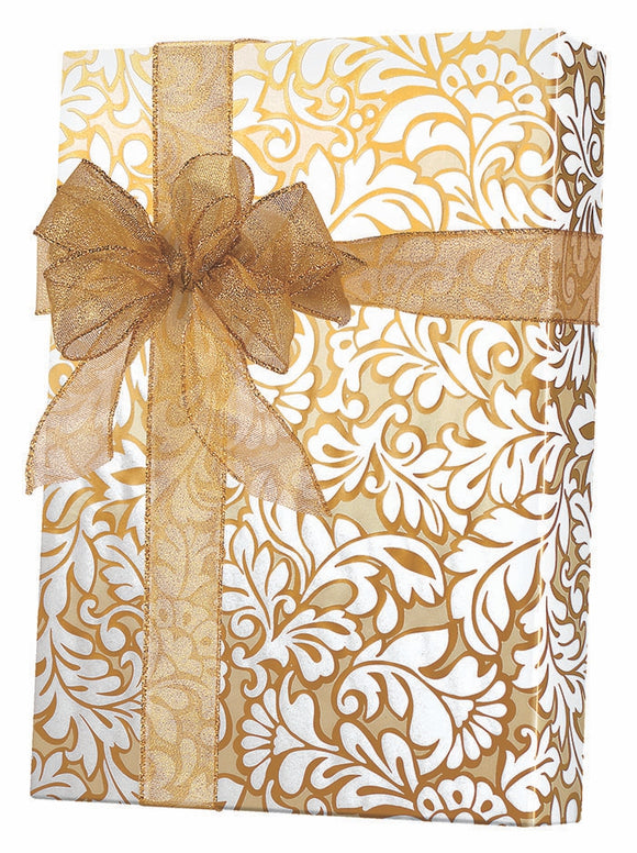 Damask Blooms Gift Wrap