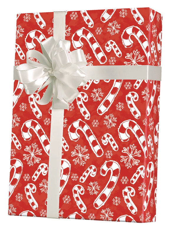 Flakes & Candy Canes Gift Wrap