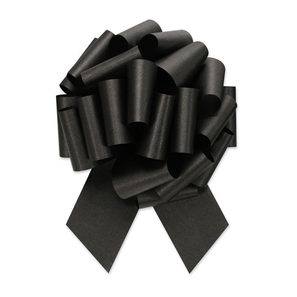Flora Satin Perfect Bow - Black - 2 Sizes