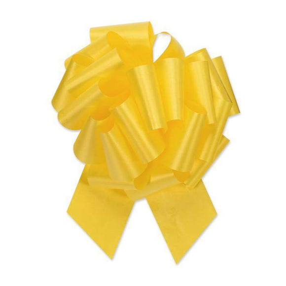 Flora Satin Perfect Bow - Daffodil Yellow - 2 Sizes