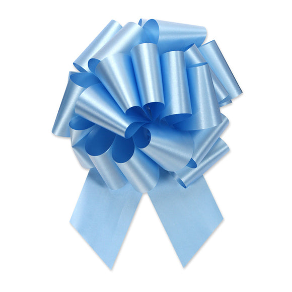 Flora Satin Perfect Bow - Light Blue - 2 Sizes