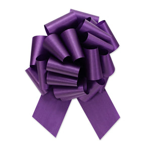 Flora Satin Perfect Bow - Purple - 2 Sizes